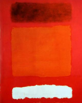 © Mark Rothko red white and brown Fair Use wikiart