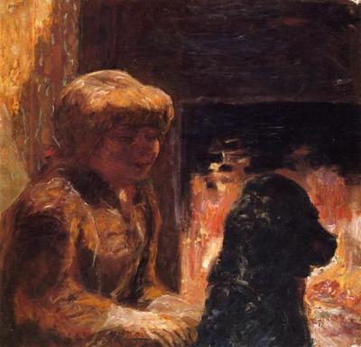 © Pierre Bonnard Faire use wikiart Woman with Dog (also known as Marthe Bonnard and Her Dog)
