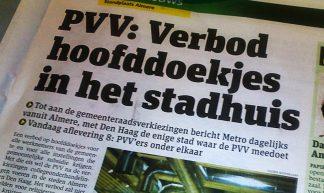 PVV: Verbod hoofddoekjes in het stadhuis (2010)