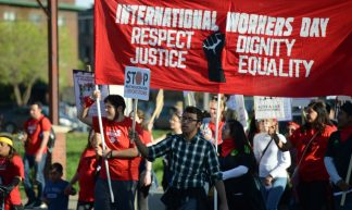 International Workers Day march for immigrant and workers rights - Fibonacci Blue