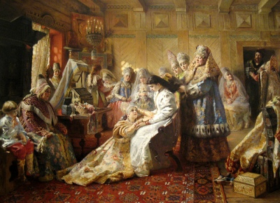 cc Flickr HarshLight photostream Makovsky The Russian Bride's Attire