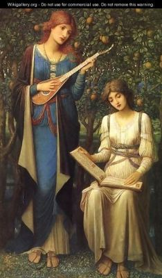 cc fair use wikigallery.org John Melhuish Strudwick When Apples were Golden and Songs were Sweet, But Summer had Passed away