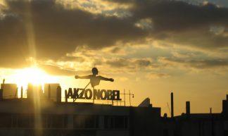 Zonsondergang bij Akzo Nobel - steve_w