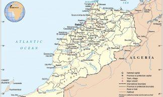 Carte Maroc - Trysk 
