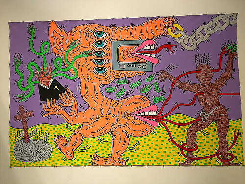 cc Flickr FaceMePLS photostream Keith Haring - Kunsthal Rotterdam Untitled (1985)