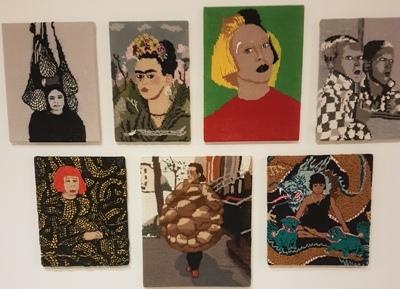 Kate Just Feminist Fan op Textiel Biennale 2017 Museum Rijswijk eigen foto