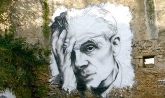 Aldous Huxley painted portrait IMG_7518 - thierry ehrmann