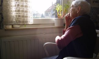 Elderly woman + her view - Borya
