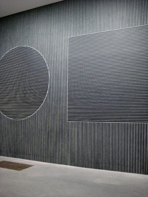 cc Flickr Jen Leonard photostream Six Geometric Figures (+ Two) (Wall Drawings), Sol LeWitt