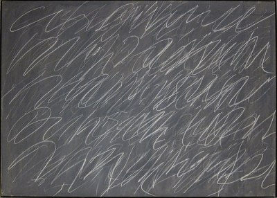 cc Flickr Sharon Mollerus photostream Cy Twombly, Untitled, 1970, Oil and crayon on canvas