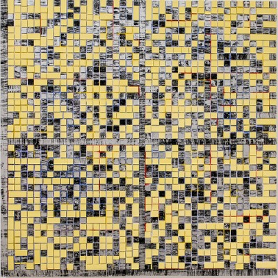 cc Flickr Sharon Mollerus photostream Jack Whitten, E Stamp VI Vouvray (For Harvey Quaytman), 2008, Walker