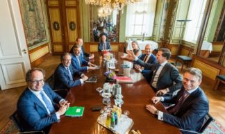 © Tweede Kamer kabinetsinformatie 28 juni onderhandelaars met zalm 2