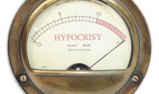 Hypocrisy Meter, Pegged - KAZ Vorpal
