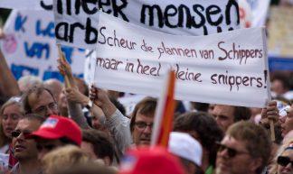 Actie tegen bezuinigingen GGZ Malieveld Den Haag - SP