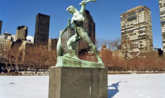 Statue by the Soviet Sculptor Evgeny Vuchetich - United Nations Photo