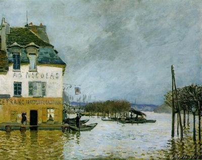 cc Flickr Gandalf's Gallery Alfred Sisley - Flood at Port-Marly 1872