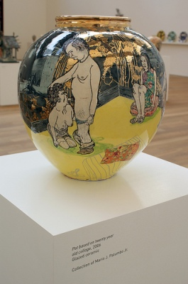 cc Flickr Marc Wathieu photostream Grayson Perry - Pot based on twenty year old collage (2006)