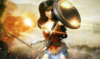 Wonder Woman Deflecting Bullets - earldan