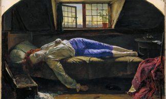 Henry Wallis - Chatterton [1856] - Gandalf's Gallery