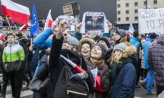 #KOD demonstration in Warsaw - Grzegorz Żukowski