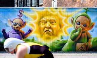 Donald Trump street art in Copenhagen - Kristoffer Trolle