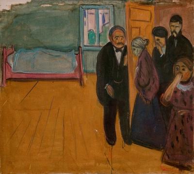 cc Flickr Sharon Mollerus photostream Edvard Munch, The Smell of Death, 1895