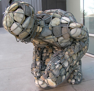 cc Flickr rocor photostream Celeste Roberge Cairn, 1998. Steel, Truckee River rock. Nevada Museum of Art
