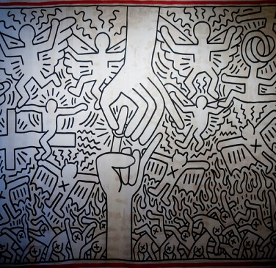 cc Flickr Andrea Sartorati photostream Keith Haring - The Marriage of Heaven and Hell 1985