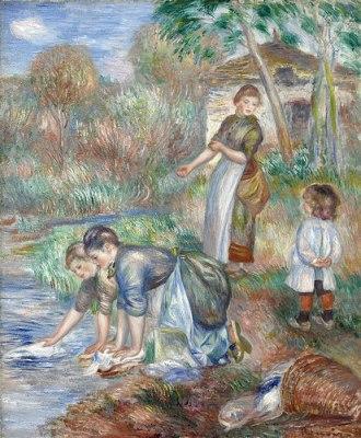 cc Flickr Gandalfs gallery photostream Pierre-Auguste Renoir – Washerwomen 1888