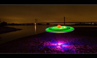 UFO Spottet in Rees (SOOC ! ) Lightpainting - Maarten Takens