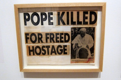cc Flickr Wally Gobetz photostream Brooklyn - Brooklyn Museum Keith Haring 1978–1982 - Pope Killed for Freed Hostage © Courtesy of Keith Haring Foundation