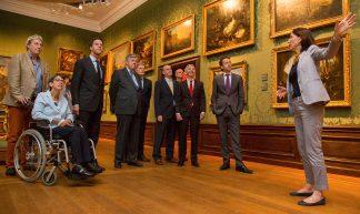 Bezoek aan Mauritshuis - Minister-president Rutte