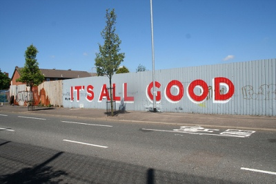 cc Flickr Robin Kirk photostream It's all good On the peace line