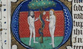 Livre d'heures à l'usage de Tréguier - Le péché originel - Bibliothèque des Champs Libres