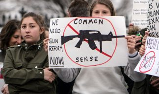 We need gun reform now, student lie-in at the White House to protest gun laws - Lorie Shaull
