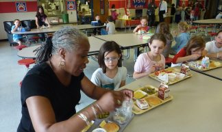 Audrey Rowe Eating Lunch with Fishers Elementary School Children - U.S. Department of Agriculture