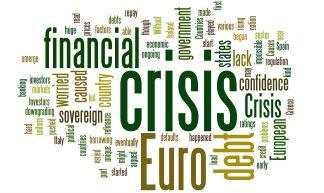 Euro Financial Crisis Word Cloud - Green - EuroCrisisExplained .co.uk