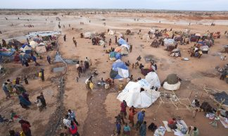 Aankomst van vluchtelingen in kamp Dolo Ado - Giro 555 SHO