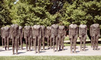 Magdalena Abakanowicz, Standing Figures (Thirty Figures) [detail], 1994-98, Bronze, Nelson-Atkins - Sharon Mollerus