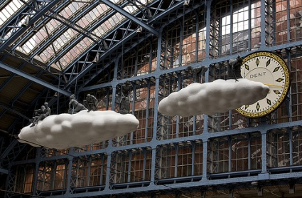 cc Flickr Chris Beckett photostream Cloud Meteoros by Lucy and Jorge Orta - art installation, St Pancras Station, London