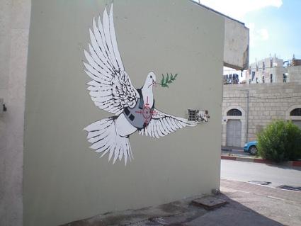 cc Flickr eddiedangerous photostream Banksy Armoured Peace Dove