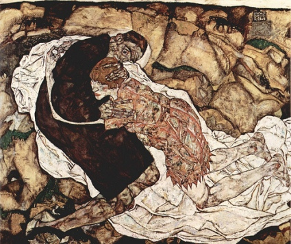 cc Flickr Jeremy Weate photostream Death and the Maiden, Egon Schiele at the Belvedore Museum, Vienna