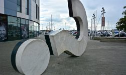 Ipswich, Waterfront, Ipswich Campus, The Big Question Mark Sculpture - Martin Pettitt