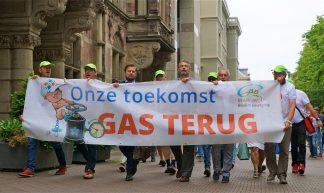 Groninger Bodem Beweging protesteert in Den Haag - Roel Wijnants