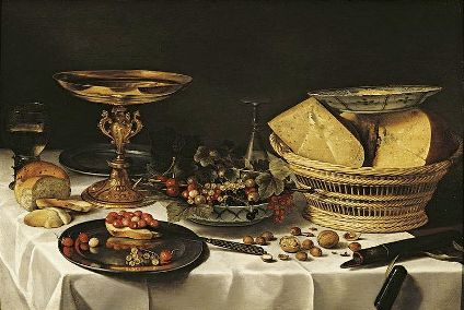 cc commons.wikimedia.org Pieter Claesz - Still Life with Cheese and Fruit