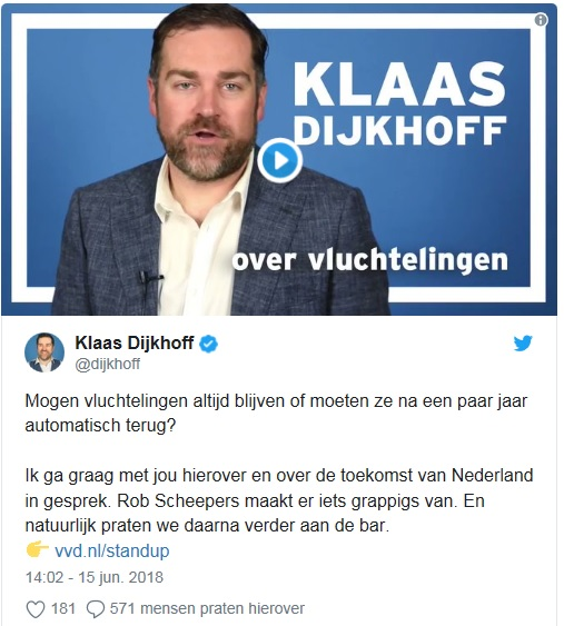 screenshot Twitter Klaas Dijkhoff