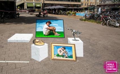 © World Street Painting Festival 2018 Jean Marc Museum op straat foto Chiel Eijt 2