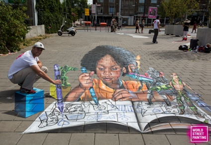 © World Street Painting Festival 2018 Nate Baranowski foto Chiel Eijt 2