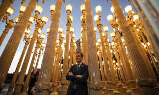Mayor Garcetti celebrating the 10th anniversary of Urban Light at the Los Angeles County Museum of Art - Eric Garcetti