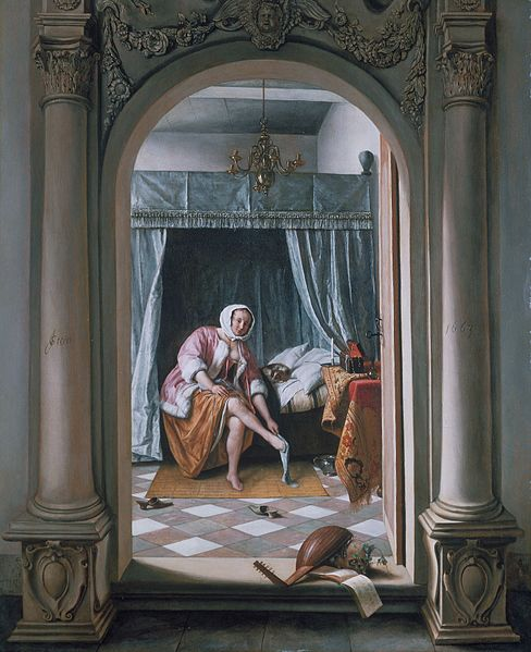 cc commons.wikimedia.org A woman at her Toilet by Jan Steen